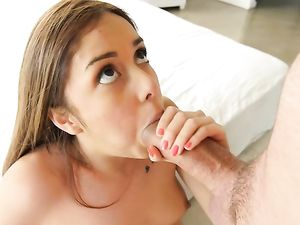 Slow Fucking Stretches Out Her Tight Young Pussy