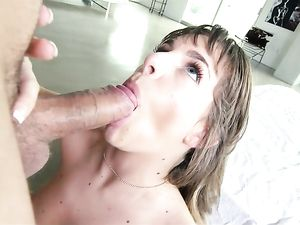 Slim Girl Fucked In Her Shaved Pussy By His Big Dick