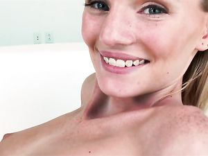 Fucking The Adorable Blonde And Nutting In Her Mouth