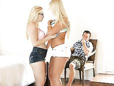 Pure Blonde Beauties Make Threesome Dreams Come True