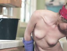 Teen Cleaning Lady Blows And Bangs The Hunky Guy