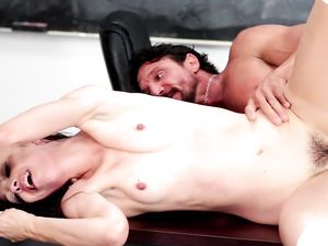 Big Dick Fucks The Schoolgirl And Cums On Her Face