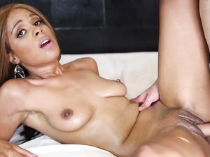 Beauty Covered In Oil Fucked Hard By A Big Cock