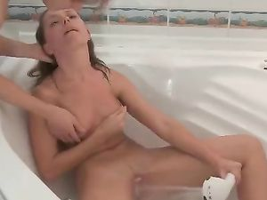 Bent Over In Her Bathtub And Fucked Doggystyle