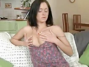 Cunt Rubbing Russian Teen Invites Him In To Fuck Her