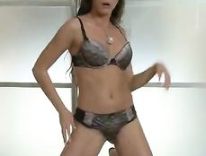 Hot Stripping Euro Girl Fingers Her Hairy Vagina
