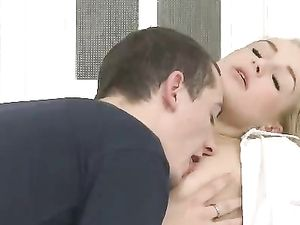 Foreplay With A Sexy Schoolgirl Gets Him Laid