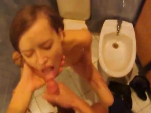 Take A Cutie To The Bathroom And Fuck Her Mouth