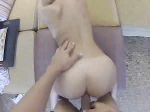 Round Booty Teen Babe Bends Over For His Fuck Meat
