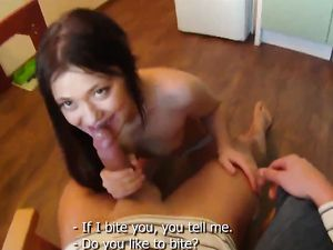 Lithe Young Beauty Has Big Cock POV Sex