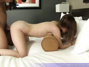 Shooting Her First Fuck Scene With The Big Cock Guy