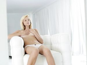 Teen Underwear Babe Strips And Pleasures Her Pussy