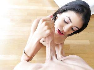 Good Big Cock Loving For A Petite Latina Teenager