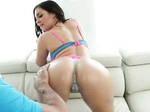 Amazing Ass Teen In Pink Panties Fucks An Older Guy