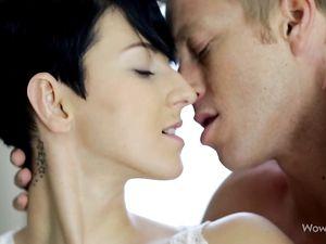 Sensual Kissing And Fondling Of A Busty Goddess