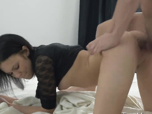 Sexy Teen Babe Rides Cock And Receives Loads Of Cum