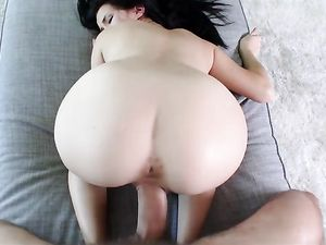 Petite Megan Rain Fucks A Big Cock Until It Cums