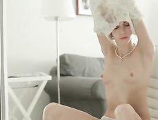 Elegant Solo Masturbation Makes Her Nipples Rock Hard