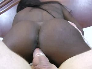 Buxom Black Amateur Fucks A White Guy For Cash