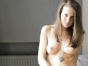 Perfect Tits On A Girl Who Loves To Masturbate