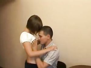 Fingering His Teenage GF Before She Blows Him